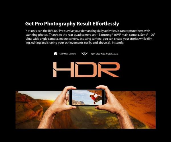 Telefon mobil Blackview BV6300 PRO, Android 10, 4G, Bateria 4380 mAh, Ecran IPS 5.7'', Procesor Helio P70 OctaCore, Dual SIM, RAM 6GB, ROM 128GB, Baterie 4380mAh, 16 Milioane Culori, Giroscop, GPS, Negru 15