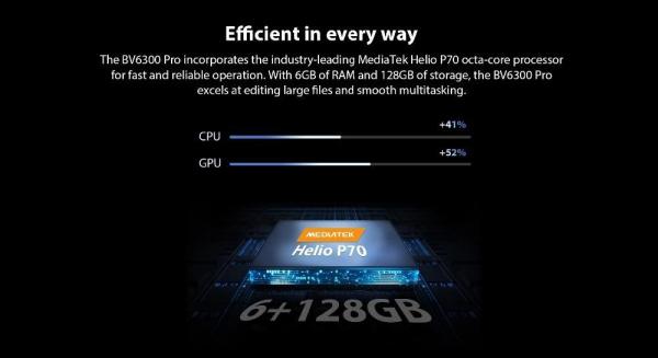 Telefon mobil Blackview BV6300 PRO, Android 10, 4G, Bateria 4380 mAh, Ecran IPS 5.7'', Procesor Helio P70 OctaCore, Dual SIM, RAM 6GB, ROM 128GB, Baterie 4380mAh, 16 Milioane Culori, Giroscop, GPS, Negru 10