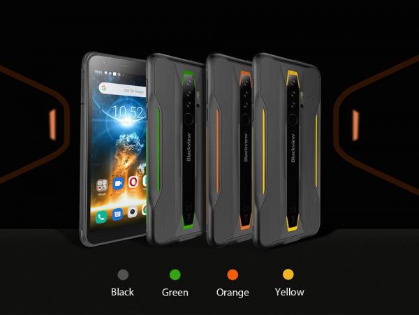 Telefon mobil Blackview BV6300 PRO, Android 10, 4G, Bateria 4380 mAh, Ecran IPS 5.7'', Procesor Helio P70 OctaCore, Dual SIM, RAM 6GB, ROM 128GB, Baterie 4380mAh, 16 Milioane Culori, Giroscop, GPS, Negru 12