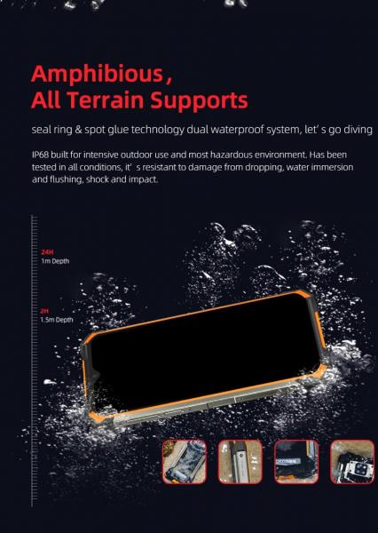 Telefon mobil Doogee S88 Pro, Android 10, Dual SIM, Waterproof, Helio P70 OctaCore, 10000 mAh, 4G, Ecran IPS 6.3'', 128 GB ROM, 6 GB RAM, Negru 9