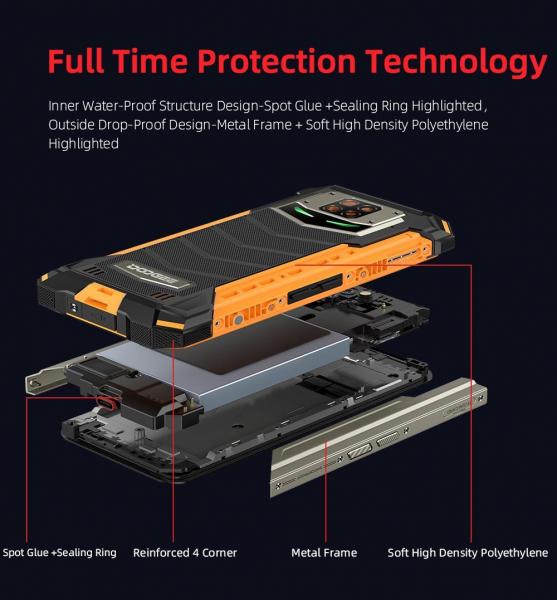 Telefon mobil Doogee S88 Pro, Android 10, Dual SIM, Waterproof, Helio P70 OctaCore, 10000 mAh, 4G, Ecran IPS 6.3'', 128 GB ROM, 6 GB RAM, Negru 13