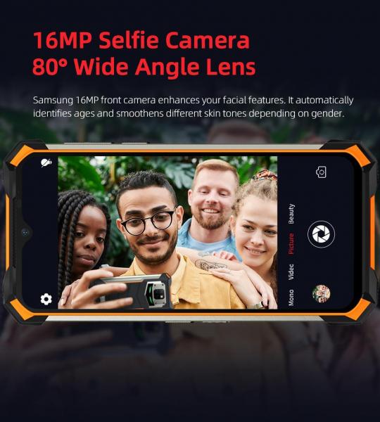 Telefon mobil Doogee S88 Pro, Android 10, Dual SIM, Waterproof, Helio P70 OctaCore, 10000 mAh, 4G, Ecran IPS 6.3'', 128 GB ROM, 6 GB RAM, Negru 16