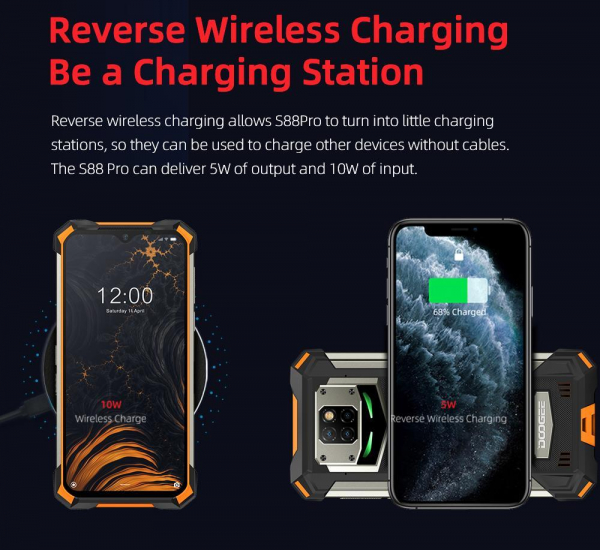 Telefon mobil Doogee S88 Pro, Android 10, Dual SIM, Waterproof, Helio P70 OctaCore, 10000 mAh, 4G, Ecran IPS 6.3'', 128 GB ROM, 6 GB RAM, Negru 7
