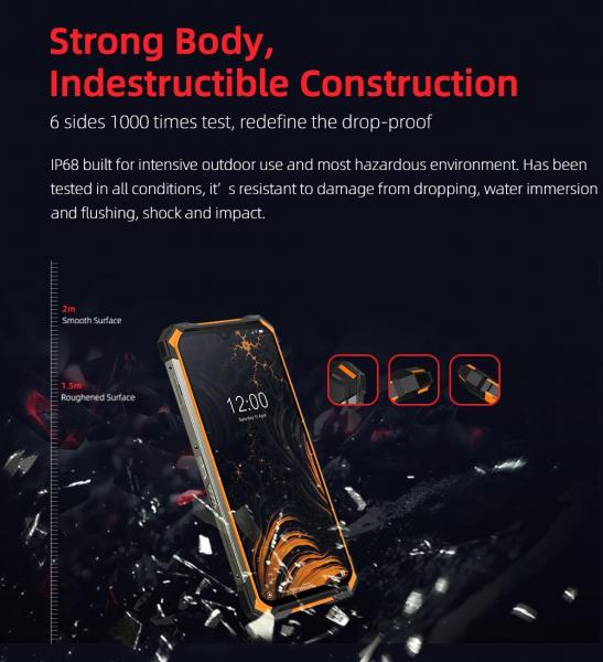 Telefon mobil Doogee S88 Pro, Android 10, Dual SIM, Waterproof, Helio P70 OctaCore, 10000 mAh, 4G, Ecran IPS 6.3'', 128 GB ROM, 6 GB RAM, Negru 8
