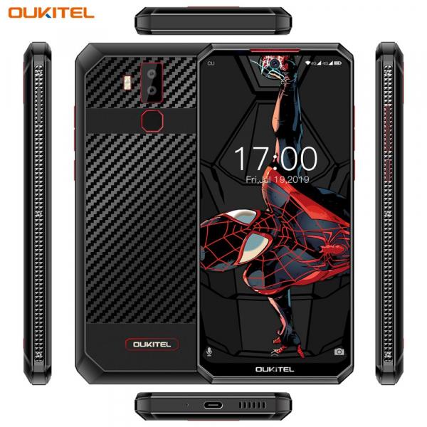 Telefon mobil Oukitel K13 Pro, Android 9.0, 4 GB RAM, 64 GB ROM IPS 6.41inch, Helio P22 OctaCore, PowerVR GE8320, 11000mAh, Dual SIM, Negru cu model kevlar 1