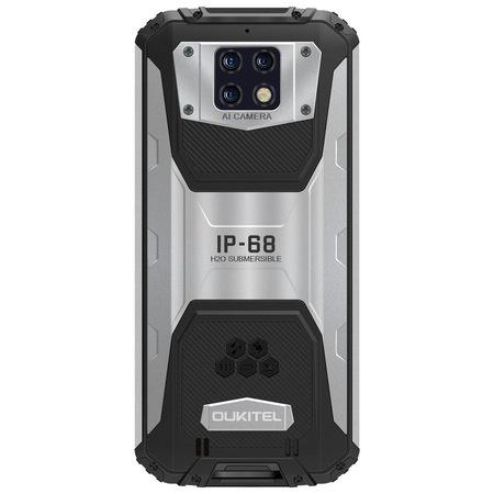 Telefon mobil Oukitel WP6, Face ID, Dual SIM, Baterie 10000mAh, Android Q, Display IPS 6.3 inch, 6 GB RAM, 128 GB ROM, OctaCore, ipx68, Negru argintiu 2