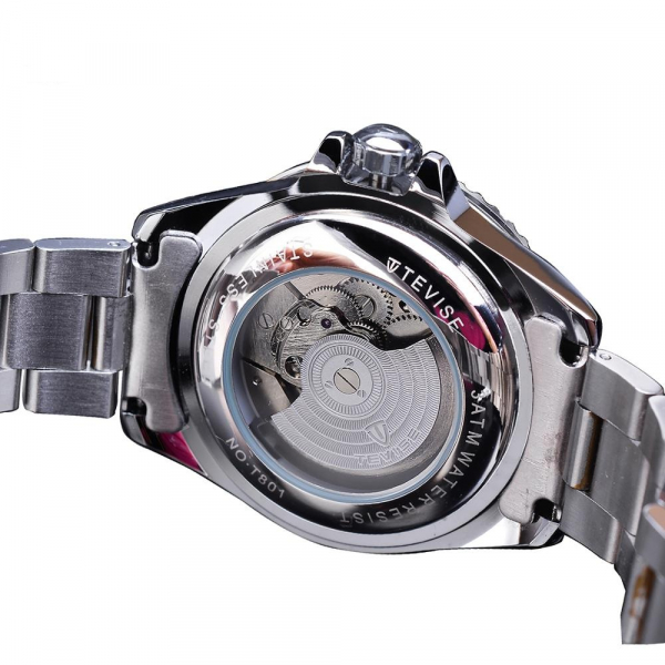 Tevise Ceas mecanic automatic barbatesc Top Brand Fashion Otel inoxidabil 1