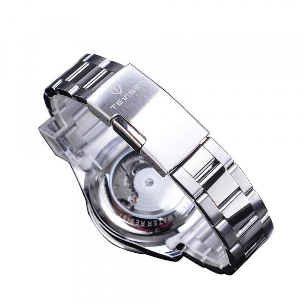 Tevise Ceas mecanic automatic barbatesc Top Brand Fashion Otel inoxidabil 2