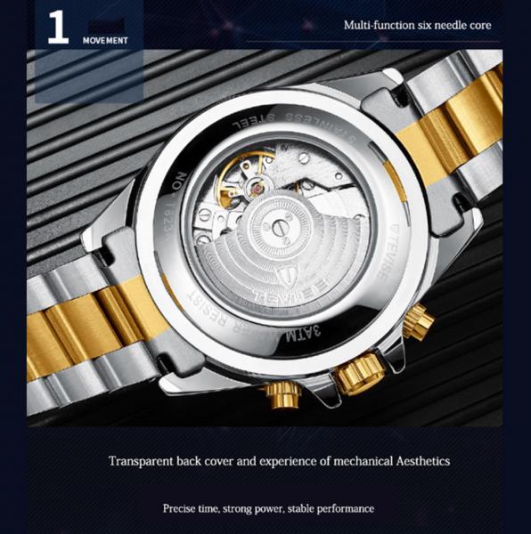 Tevise Ceas mecanic automatic barbatesc Top Brand Fashion Otel inoxidabil 4