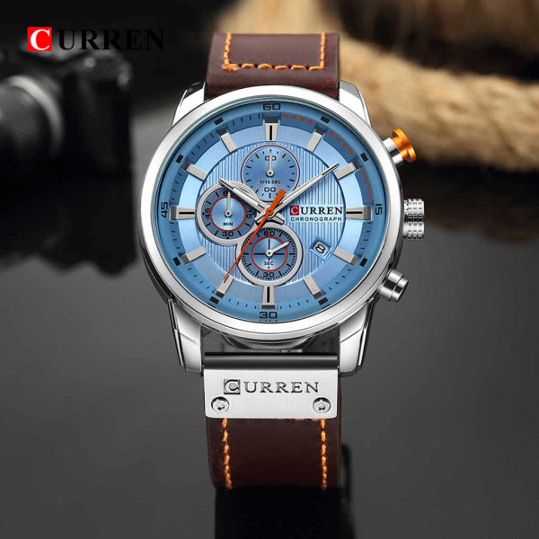 Top brand luxury Curren, Ceas barbatesc casual, Fashion, Quartz, Business, Curea din piele 3