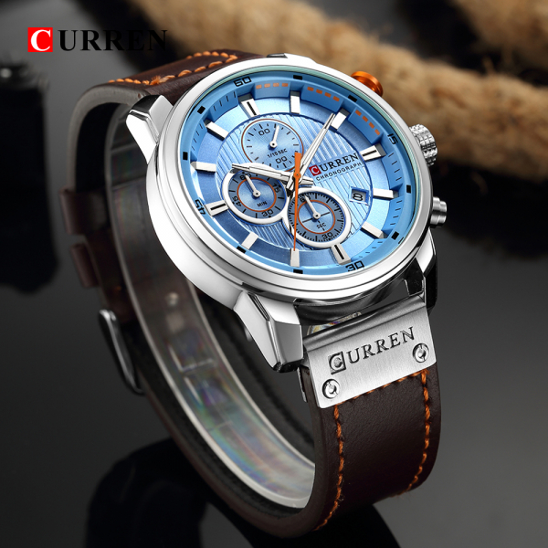 Top brand luxury Curren, Ceas barbatesc casual, Fashion, Quartz, Business, Curea din piele 4