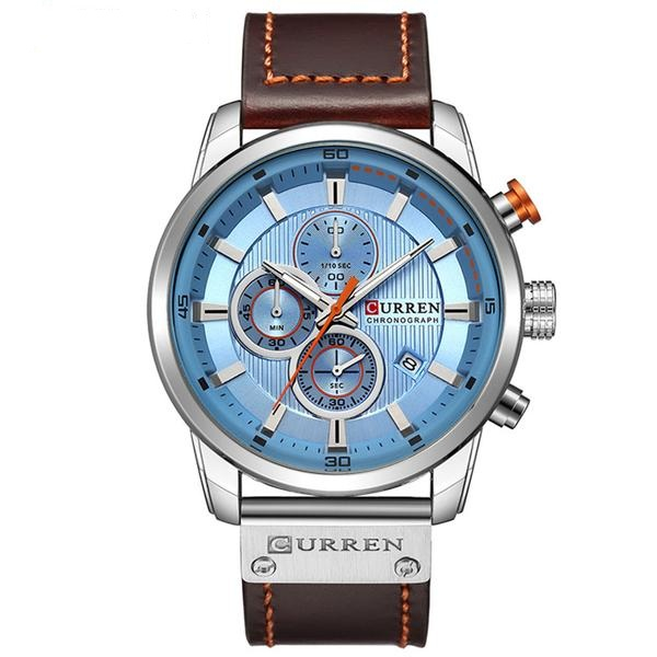 Top brand luxury Curren, Ceas barbatesc casual, Fashion, Quartz, Business, Curea din piele 1