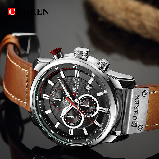 Top brand luxury Curren, Ceas barbati casual, Quartz, Fashion, Business, Curea din piele 2