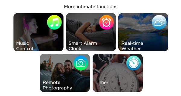 Bratara fitness, inteligenta, Zeblaze Crystal 3, 1.3 Inch, Bataile inimii, Monitor presiune sanguina, Incarcare USB [6]