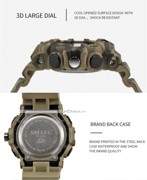 Ceas barbatesc, Smael, Militar, Army, Analog, Digital, Sport, G-Shock 3