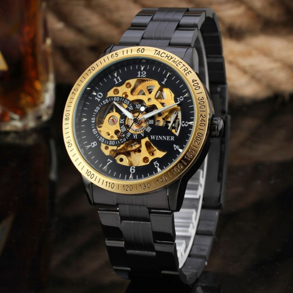 Ceas automatic mecanic Winner Skeleton Casual 1