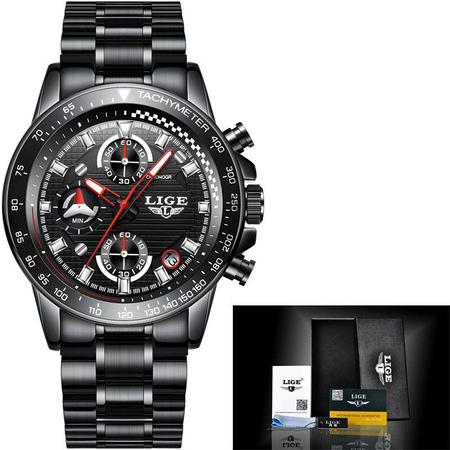 Ceas barbatesc, Lige, Business, Luxury, Elegant, Quartz, Cronograf, Calendar, Rezistenta la apa 3ATM [2]