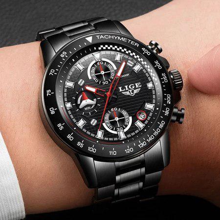 Ceas barbatesc, Lige, Business, Luxury, Elegant, Quartz, Cronograf, Calendar, Rezistenta la apa 3ATM [6]