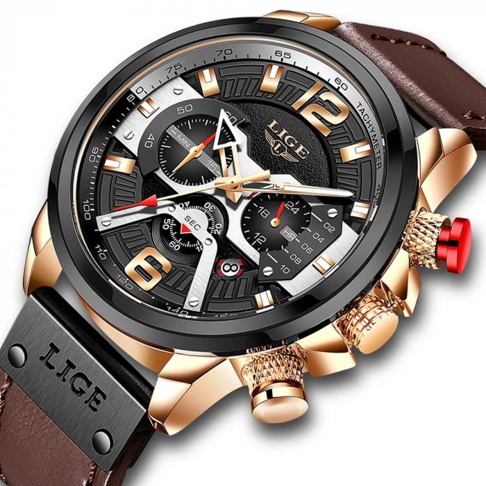 Ceas barbatesc Lige Casual Cronograf Automatic Quartz [1]