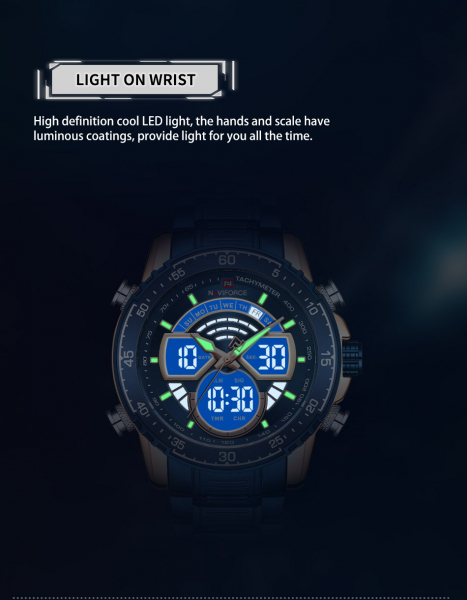 Ceas barbatesc Naviforce Dual time Digital Quartz 3
