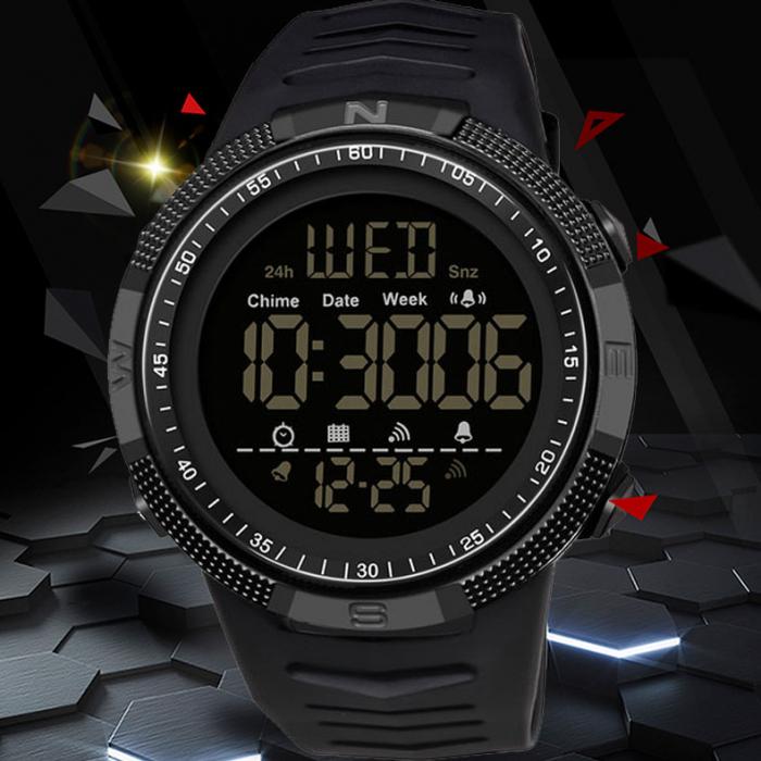 Ceas barbatesc Sport Tio Digital Alarma Cronometru Rezistent la apa si socuri [1]