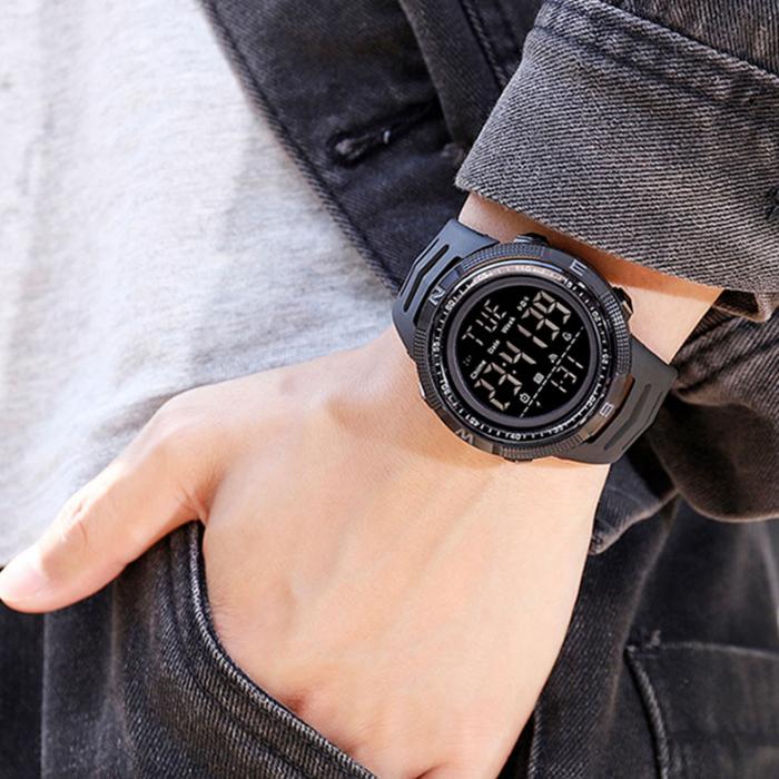 Ceas barbatesc Sport Tio Digital Alarma Cronometru Rezistent la apa si socuri [4]