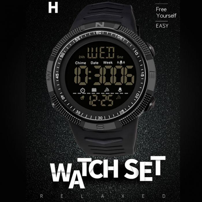 Ceas barbatesc Sport Tio Digital Alarma Cronometru Rezistent la apa si socuri [5]