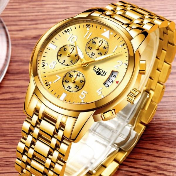 Ceas barbati Lige Luxury Fashion Business Quartz [6]