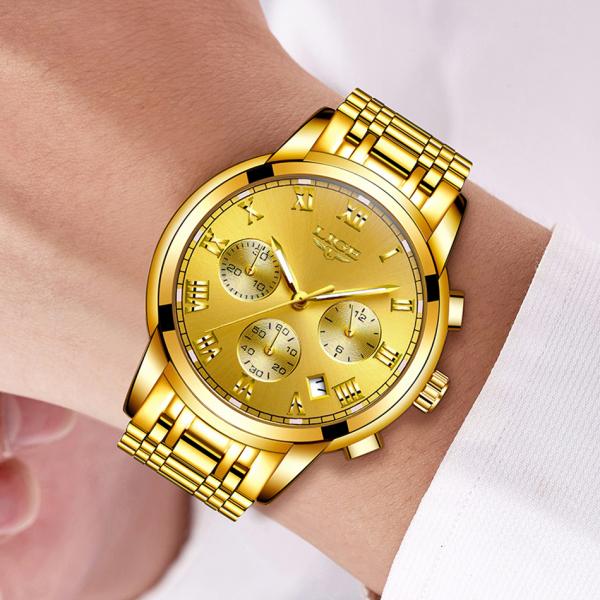 Ceas barbati Lige Luxury Fashion Business Quartz [7]