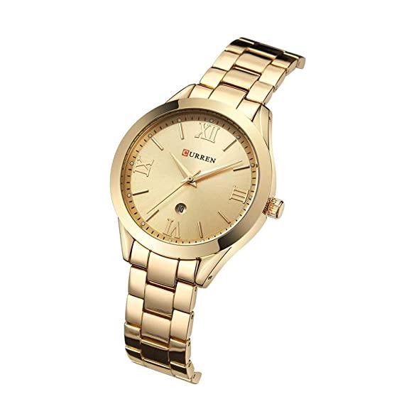 Ceas de dama elegant, Curren, Quartz, Fashion, Quartz, Otel inoxidabil [4]