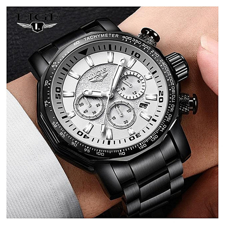 Ceas de mana barbatesc, Lige, Analog, Business, Luxury, Cronometru, Cronograf, Otel inoxidabil [3]