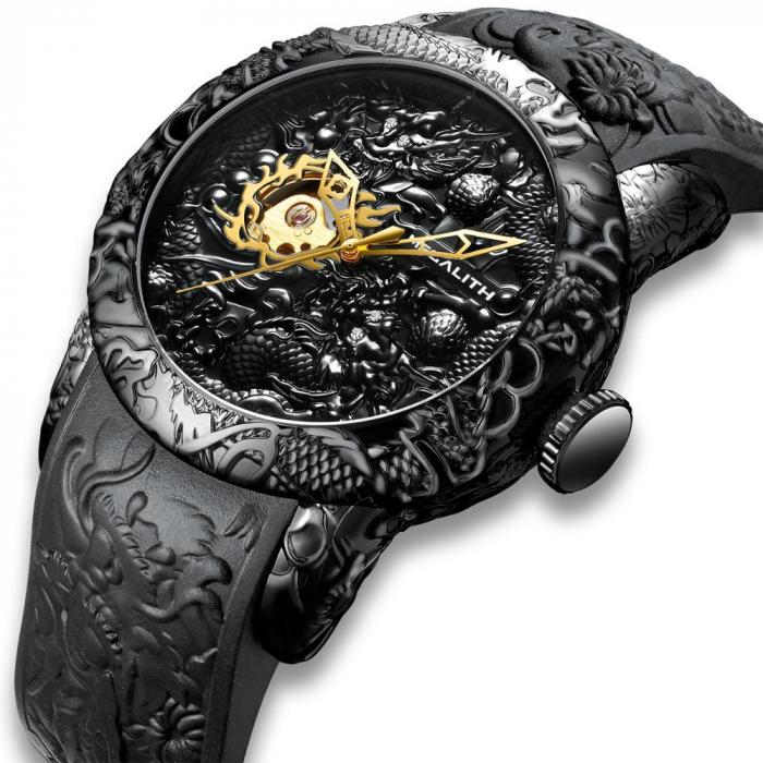 Ceas mecanic automatic barbatesc Megalith 3D Design Luxury 0