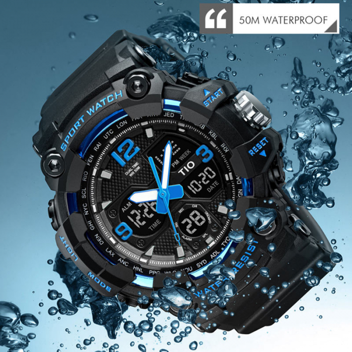 Ceas Militar Army Tio Cronograf Digital Quartz Sport Rezistent la apa si socuri [4]