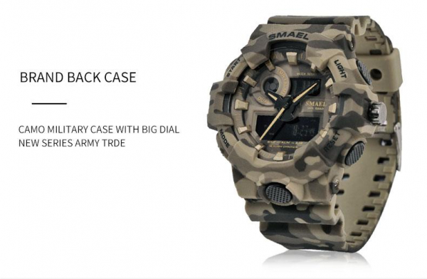 Ceas barbatesc, Smael, Militar, Army, Analog, Digital, Sport, G-Shock 2