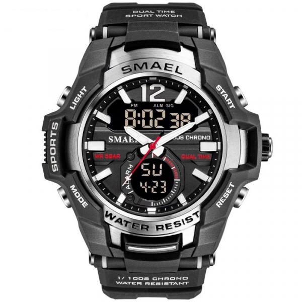 Ceas militar Smael Dual time Cronograf 0