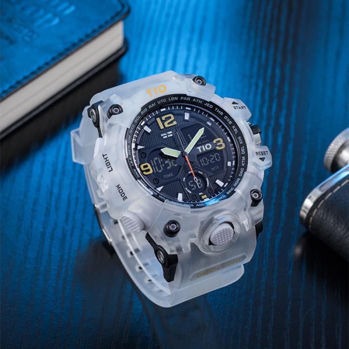 Ceas Militar Tio Sport Digital Cronograf Quartz Rezistent la apa si socuri [2]