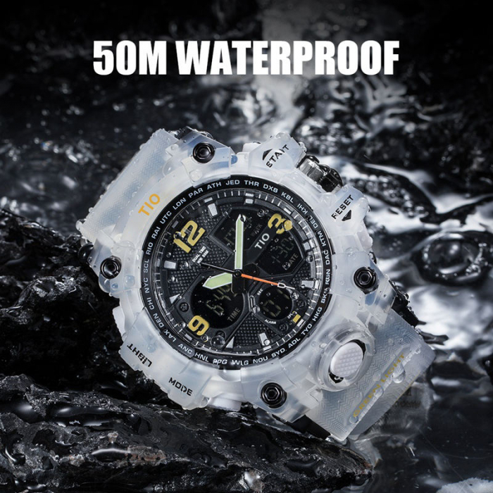 Ceas Militar Tio Sport Digital Cronograf Quartz Rezistent la apa si socuri [4]