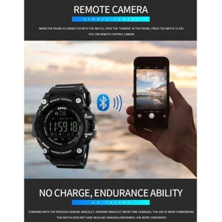 Ceas Smartwatch Barbati, Skmei 1227, Militar, Digital,  Sport, Army, Cronograf, Registru apeluri, Calorii, Pasi, Distanta, Monitorizare Calorii 2