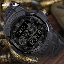 Ceas Sport Sanda, Rezistent la apa, Dual Time, Quartz 4
