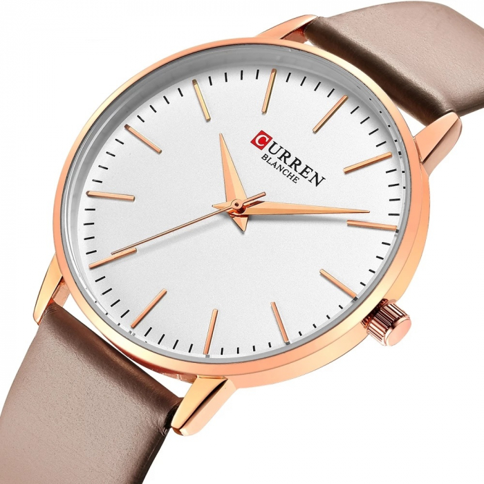 Curren Ceas dama Quartz Casual Fashion Auriu 1