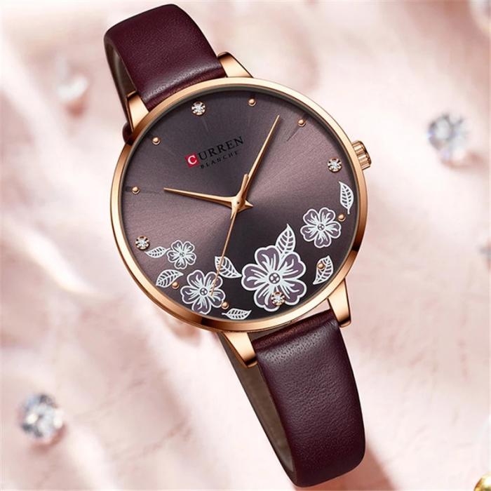 Curren Ceas de mana dama Quartz Elegant 2