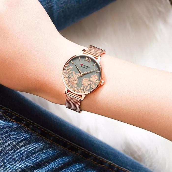 Curren Ceas de mana pentru femei Quartz Casual 2