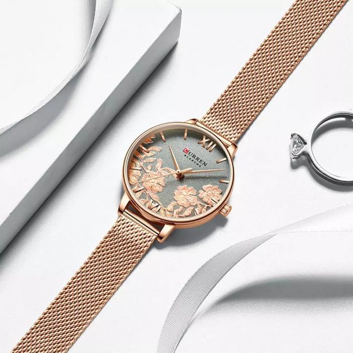 Curren Ceas de mana pentru femei Quartz Casual 4
