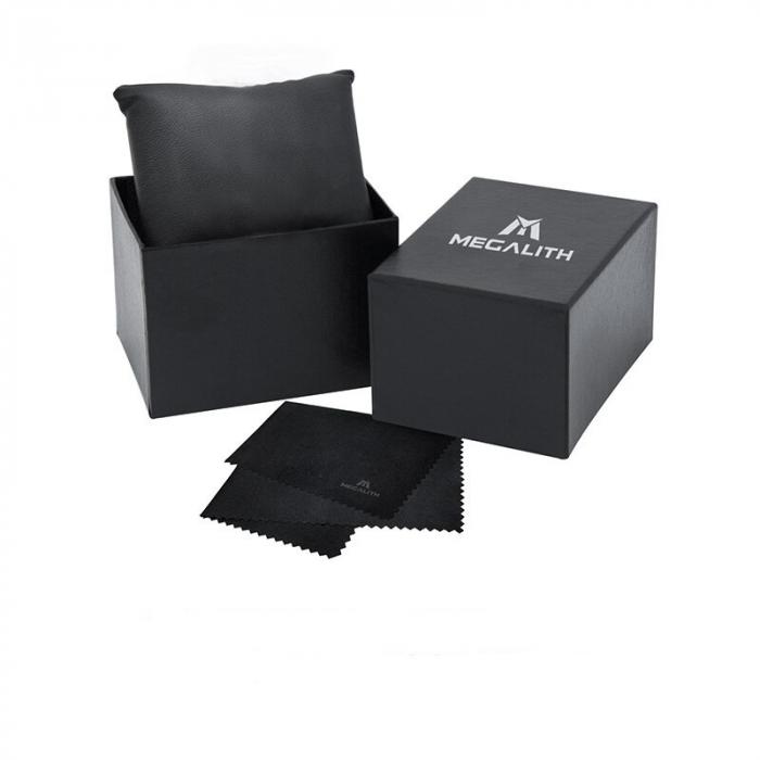 Ceas mecanic automatic barbatesc Megalith 3D Design Luxury 4
