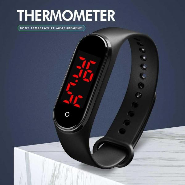 Skmei Ceas de mana Digital Monitorizeaza temperatura corpului Sport 3
