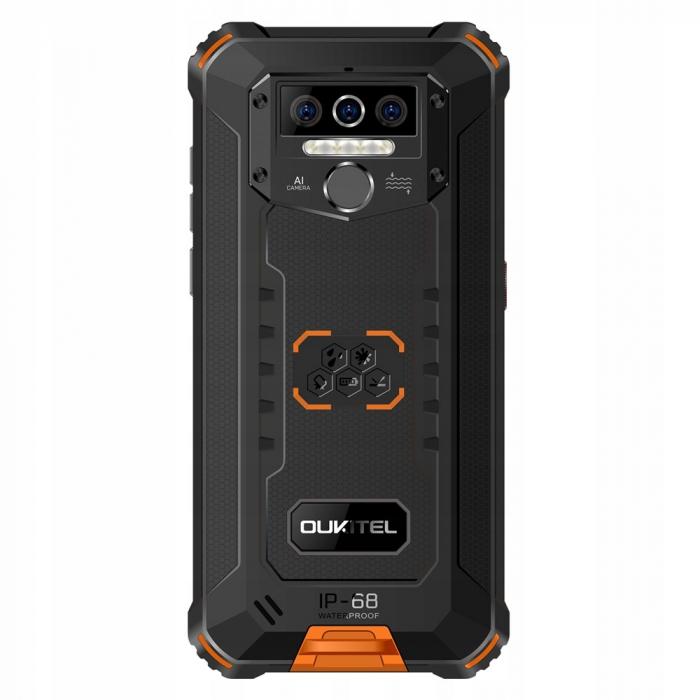 Telefon mobil Oukitel WP5, Smartphone rezistent, Baterie 8000 mAh IPS 5.5inch, 4GB RAM, 32GB ROM, Android 9.0, Orange 4