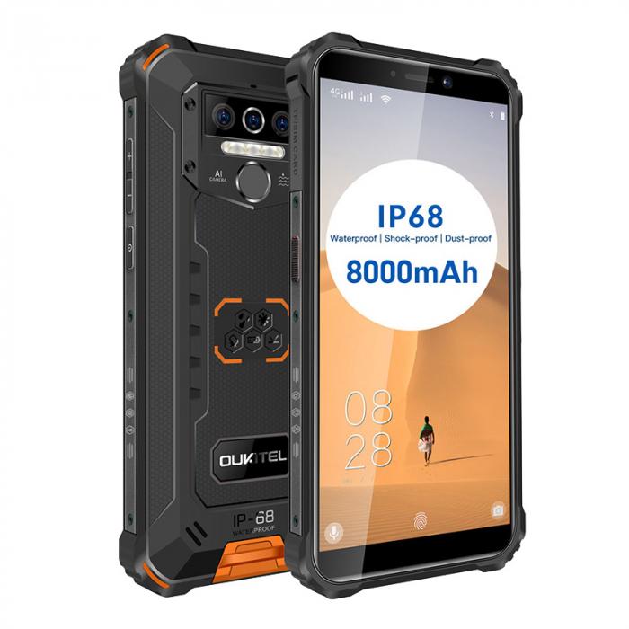 Telefon mobil Oukitel WP5, Smartphone rezistent, Baterie 8000 mAh IPS 5.5inch, 4GB RAM, 32GB ROM, Android 9.0, Orange 6