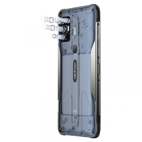 Telefon mobil Ulefone Armor 10 Negru, 5800 mAH, 5G, Android 10, Dual Sim,  6.67 FHD+, 8GB RAM, 128GB ROM ROM, Dimensity 800, NFC, IP68, 8000mAh 3