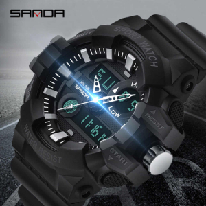 Ceas barbatesc, Shock resistant, Militar, Sport, Digital, Dual-time [5]