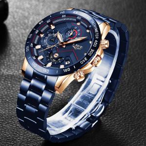 Ceas barbatesc Business Elegant Cronograf Elegant Otel Inoxidabil Quartz3